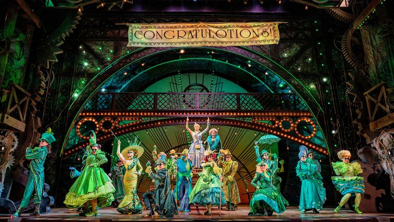 Wicked is performed in one of London's biggest theatres. Pic: Mark Senior
