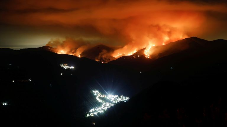 The wildfire has been raging since Wednesday
