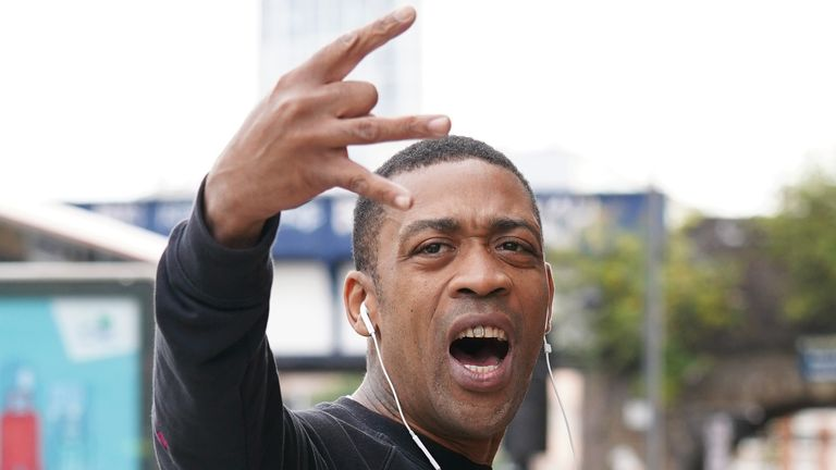 Wiley, pictured arriving Thames Magistrates' Court, allegedly broke into former kickboxer Ali Jacko's home in east London on 28 August