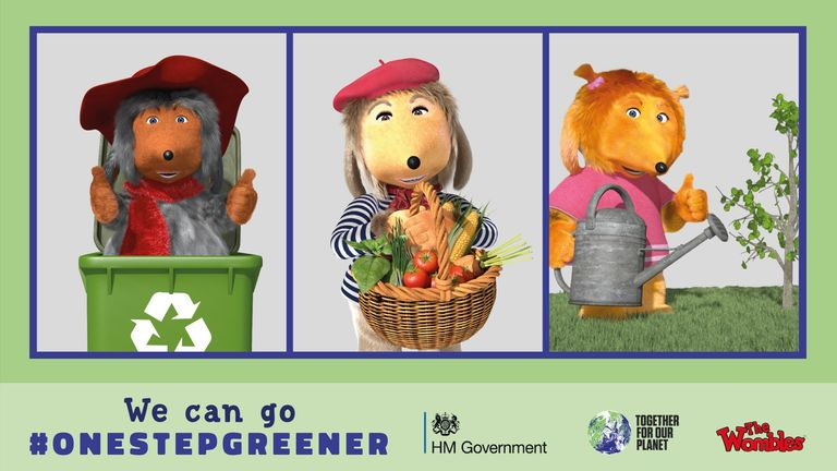 The revamped characters will champion green living ahead of the November COP26 climate summit. Pic: The Wombles via Twitter