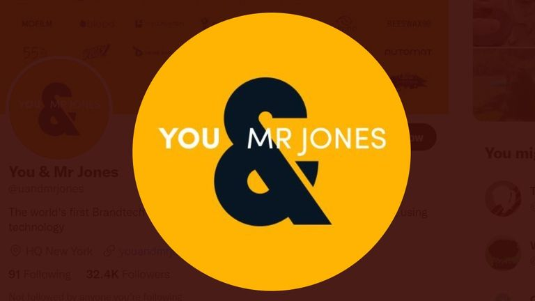 You & Mr Jones was founded in 2015 by David Jones. Pic: Y&MJ