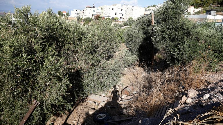 Zakaria Zubeidi's hideout in Umm al Ghanam, northern Israel. Pic: AP
