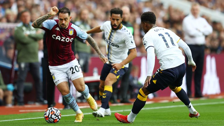 Danny Ings takes on Demarai Gray and Andros Townsend