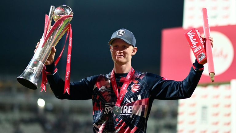 Jordan Cox produced a superb display with the bat and in the field as Kent won the Vitality Blast