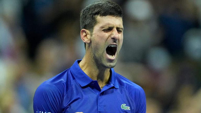 Novak Djokovic (SRB) defeated Alexander Zverev (GER) in five sets, at the US Open being played at Billy Jean King National Tennis Center in Flushing, Queens, New York / USA ©Jo Becktold/Tennisclix/CSM/CSM(Credit Image: © Jo Becktold/CSM via ZUMA Wire) (Cal Sport Media via AP Images)