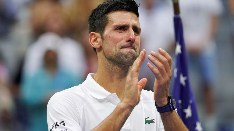 Novak Djokovic welled up at the backing he received from the New York crowd
