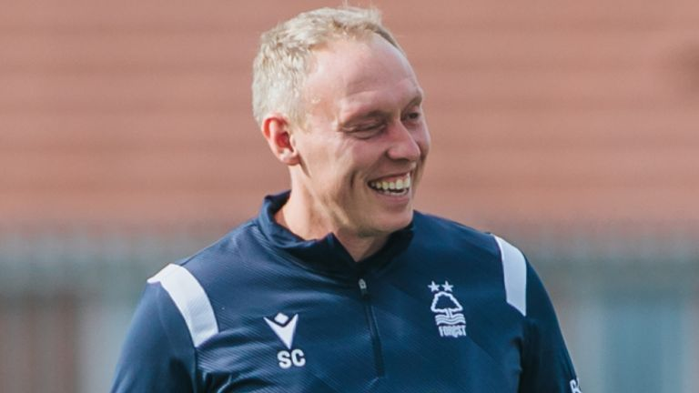 Steve Cooper, pictured taking training on Tuesday, will take charge of his first game at home to Millwall on Saturday