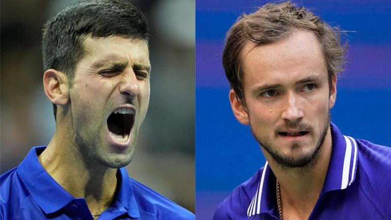 Novak Djokovic has lost six sets on his way to the US Open final in comparison with just one by Daniil Medvedev