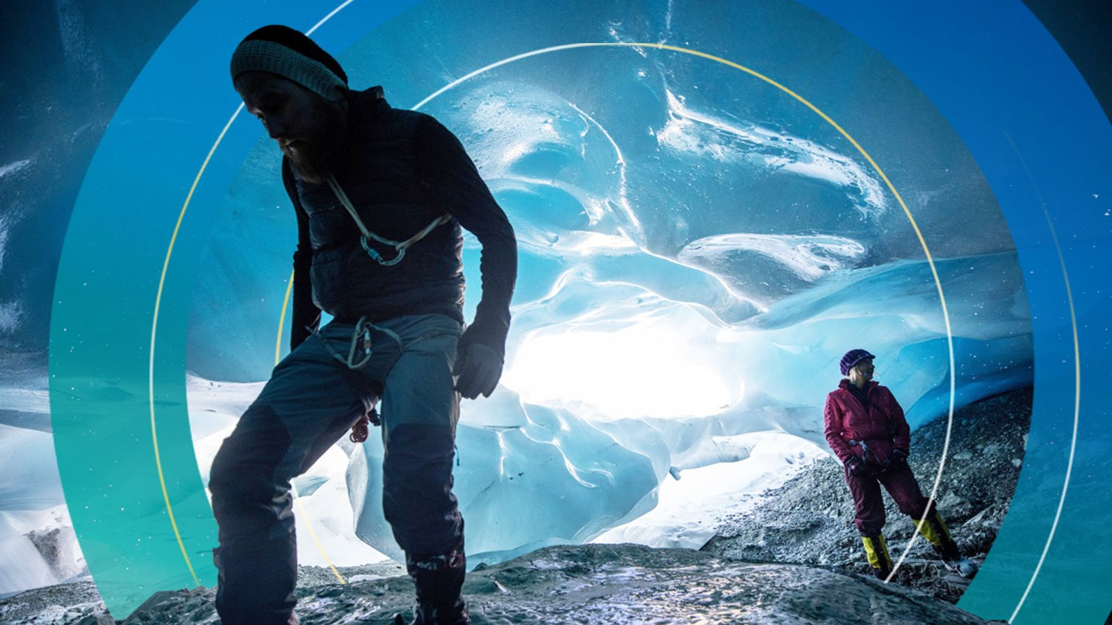 Stunning pictures show inside otherworldly ice caves appearing in the Austrian Alps