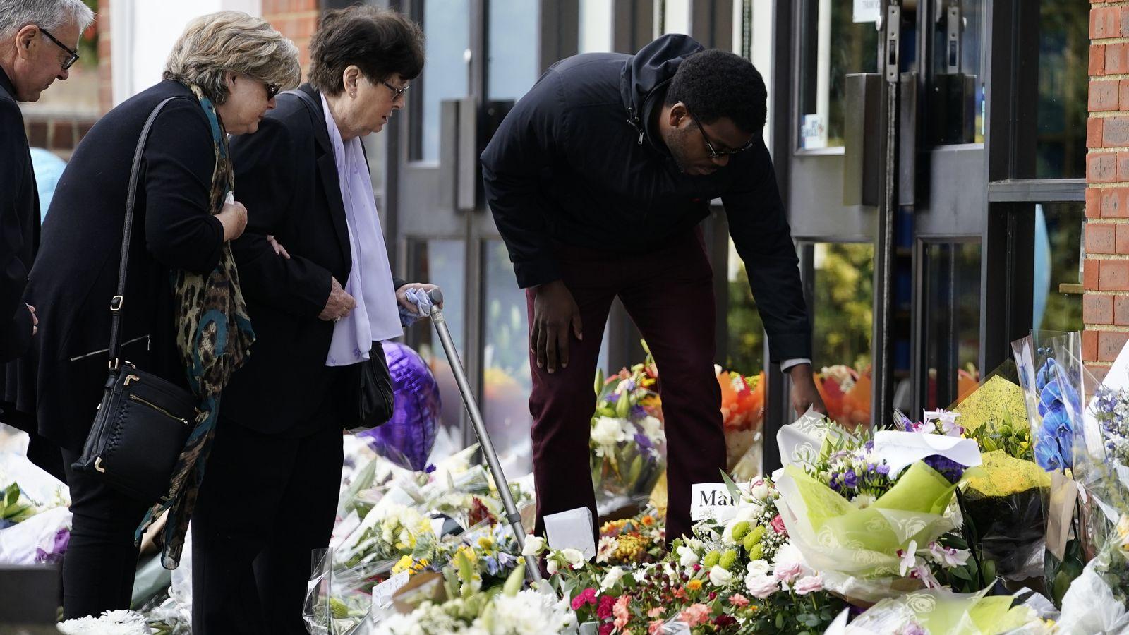Sir David Amess murder: MP's family visit church where he was killed