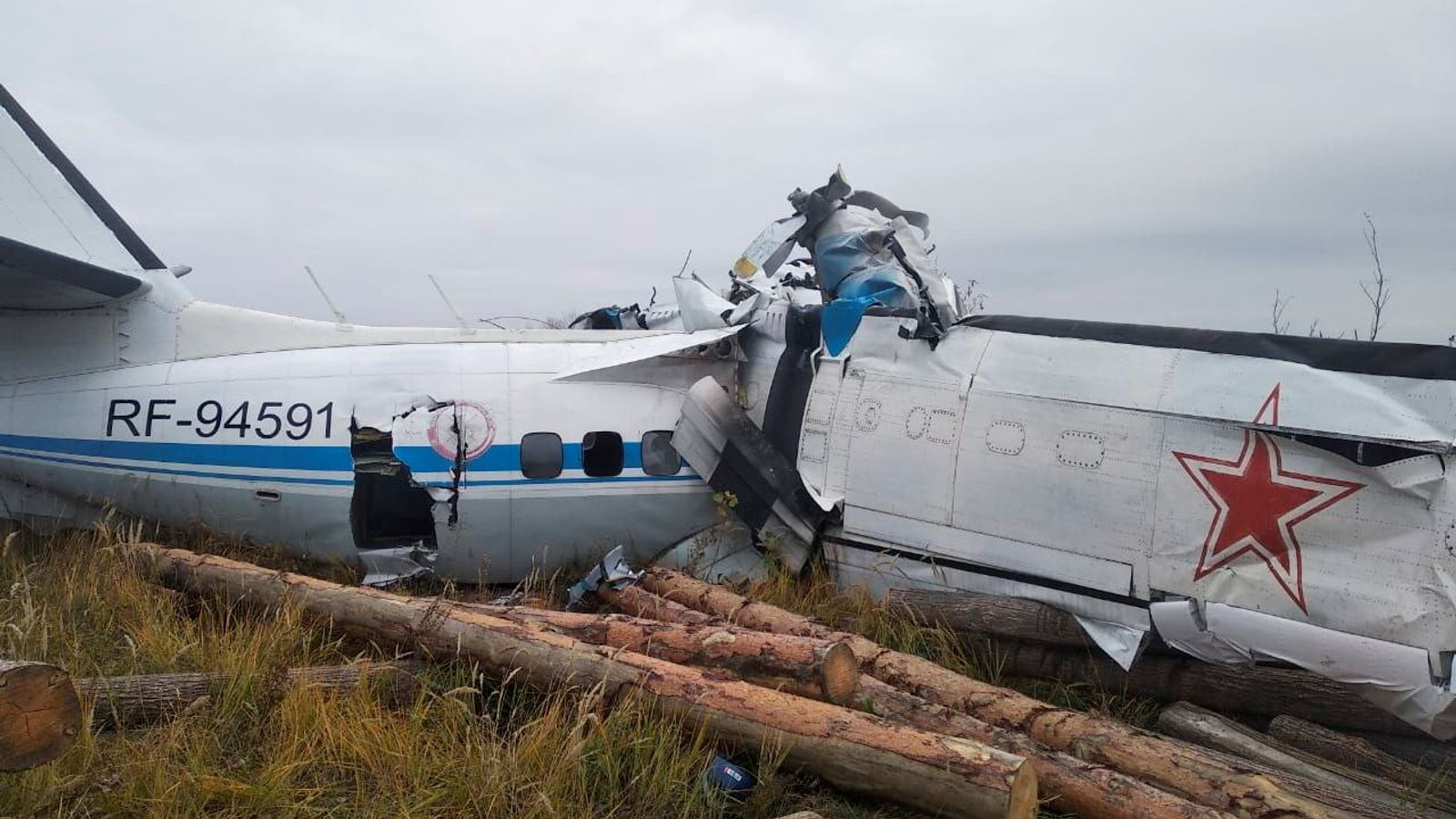 Sixteen killed as plane carrying skydivers crashes in central Russia