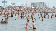 File photo dated 08/08/20 of people enjoying the hot weather at Southend beach in Essex.Prime Minister Boris Johnson has announced that the Queen has agreed Southend will be granted city status following the murder of MP Sir David Amess. Issue date: Monday October 18, 2021.