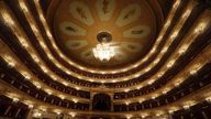An interior view shows the Bolshoi Theatre before a ceremony opening a new season in Moscow, Russia September 12, 2017. REUTERS/Sergei Karpukhin