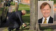 Boris Johnson at the scene of the attack. Pic: No 10