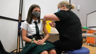 Children aged 12-15 can now receive a coronavirus vaccine. File pic