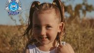 Cleo Smith went missing in the early hours of Saturday. Pic: WA Police