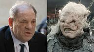 gothmog from Lord of the Rings twinned with  Harvey Weinstein (lt) Credit: AP/New Line Cinema