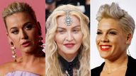 Katy Perry, Madonna, Pink