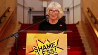Duchess of Cornwall speaks during a reception for 'Shameless! Festival' at the Wellcome Collection, London. Picture date: Wednesday October 27, 2021.