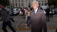 David Henderson arriving at Cardiff Crown Court on 18 October.