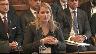 Frances Haugen Facebook speaks before parliamentarians in Westminster