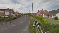 The incident happened at an address on Parsonage Road in Berrow, Somerset. Pic: Google