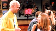 James Michael Tyler / Jennifer Aniston friends FRIENDS, Jennifer Aniston, 1994-present, episode , The One With Joey's New Girlfriend aired 10/30/97, yr4 - Image ID: HDA1MR (RM)
