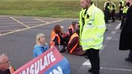 Insulate Britain protesters block M25 junction