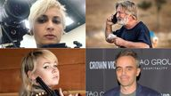 Clockwise - Halyna Hutchins, Alec Baldwin, Joel Souza and Hannah Gutierrez-Reed, Pic:Rex/Reuters