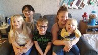 Jorja Halliday, pictured her with her siblings, (from left) Daisie, Kallum, Julie and Oscar, was the oldest of five children. She died after testing positive for COVID-19