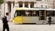 Metrolink, the Manchester's tram stock photo