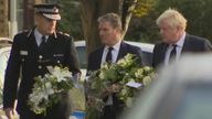 Prime Minister Boris Johnson and Labour leader Sir Keir Starmer visited Leigh-on-Sea, where MP Sir David Amess was stabbed at a constituency surgery.