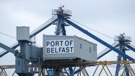 File photo dated 11/11/20 of a Port of Belfast sign at Belfast Harbour. The EU will later outline a range of proposals aimed at resolving the political stand-off over Brexit's Northern Ireland Protocol. Issue date: Wednesday October 13, 2021.