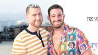 Lance Bass and husband Michael Turchin. Pic: Richard Shotwell/Invision/AP