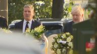 Prime Minister Boris Johnson has visited Leigh-on-Sea, where MP Sir David Amess was stabbed at a constituency surgery.