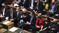 Chancellor Rishi Sunak delivers his budget Pic: UK Parliament/Jessica Taylor
