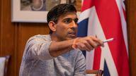 Chancellor Rishi Sunak works on his Budget speech. Pic: HM Treasury/Flickr