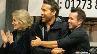 Wrexham owners and Hollywood movie stars Ryan Reynolds and Rob McElhenney have been spotted supporting the team in person for the first time since the p Pic: Maidenhead United