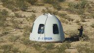 Shatner Blue Origin - Thumbs up