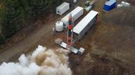 A Skyrora rocket being tested. Pic: Skyrora