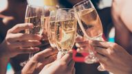 A Generic Photo of friends clinking glasses and celebrating with sparkling wine. See PA Feature DRINK Summer Sparkle