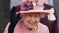 The Queen in Cardiff on 14 October