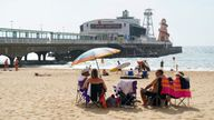 People enjoy the warm weather on Bournemouth Beach in Dorset. Picture date: Wednesday September 8, 2021.