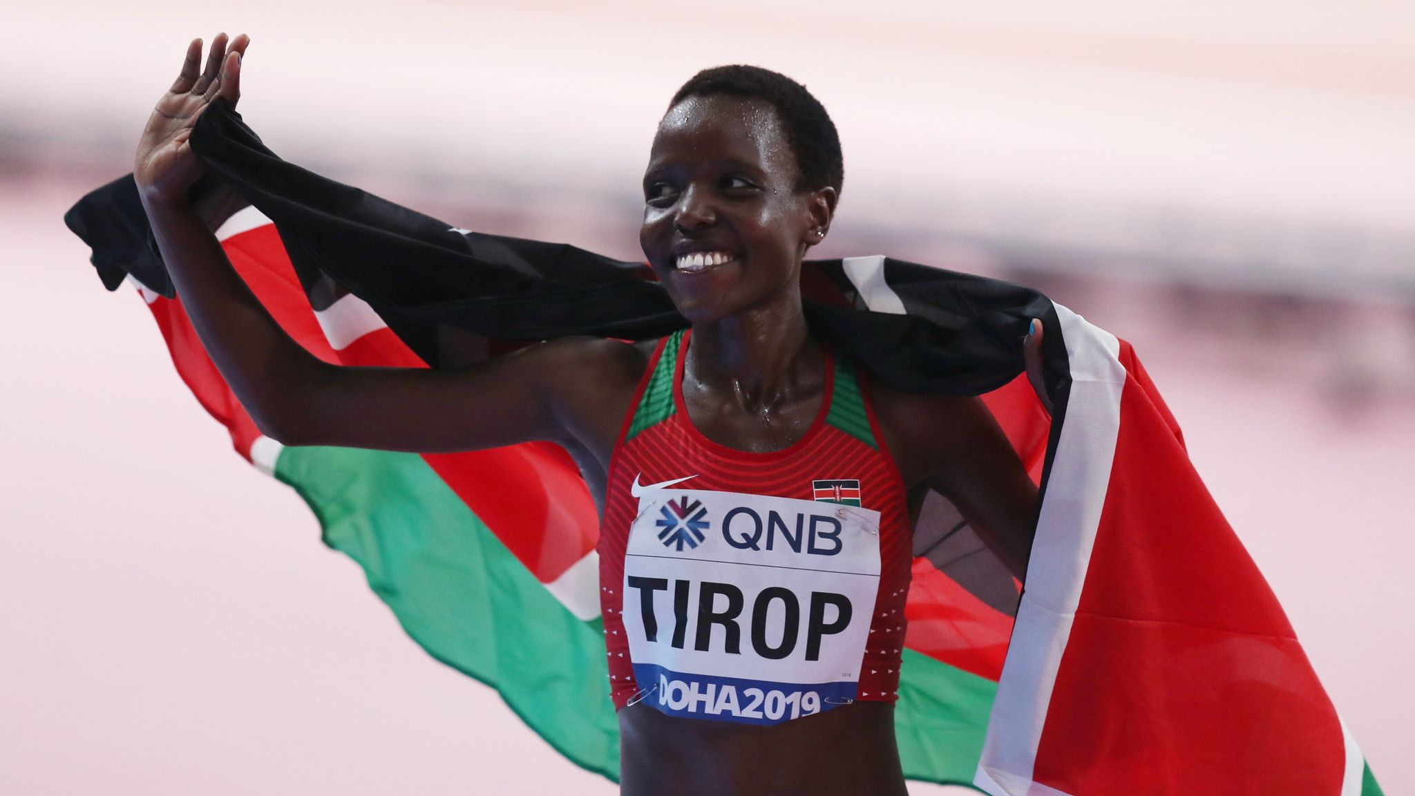 Olympic athlete, world medallist, and world record holder Agnes Tirop found stabbed to death at her home in Kenya aged 25; police say husband is suspect in her murder
