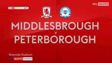Middlesbrough 2-0 Peterborough