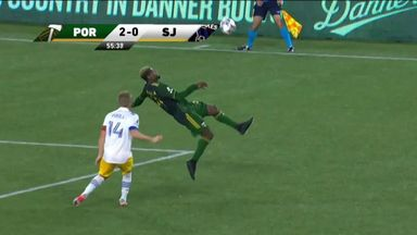 WATCH: Bicycle kick stunner from OUTSIDE the area