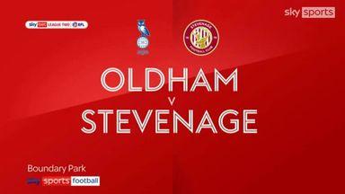 Oldham 3-0 Stevenage
