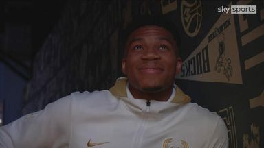Giannis watches on as brother receives ring