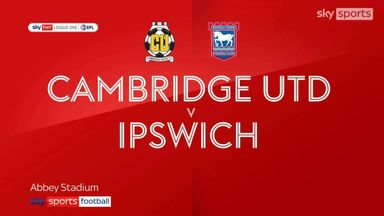 Cambridge 2-2 Ipswich