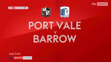 Port Vale 3-1 Barrow